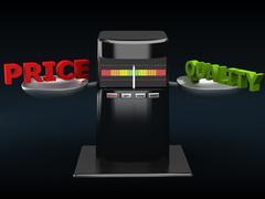 relation - price-quality - stock illustration