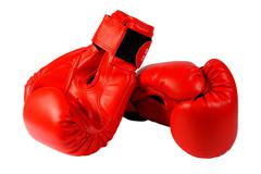 Red boxing-gloves Stock Photos