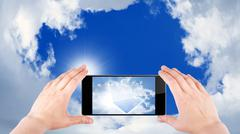 cloud computing - stock illustration