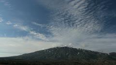Iceland Snæfellsjökull volcano and sky Stock Footage