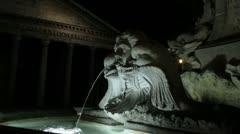 Rome - Pantheon night. Stock Footage