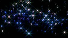 Mystical twinkling lights at night Stock Footage