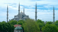Sultan Ahmed Mosque time-lapse video. Istanbul, Turkey. Stock Footage