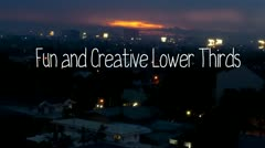 Fun and Creative Lower Thirds Stock After Effects