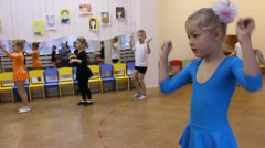 A group of small children dancing Stock Footage