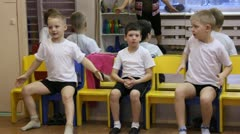 Stock Video Footage of a group of small children dancing