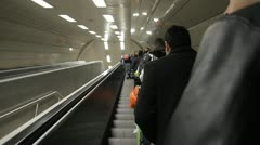 People walking in metro Stock Footage