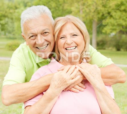 Stock photo of happy senior couple
