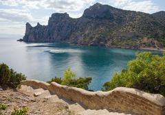 """fanciful bay of """"novyj svit"""" reserve - stock photo"""