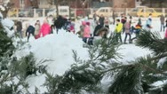Children in the snow 13 Stock Footage