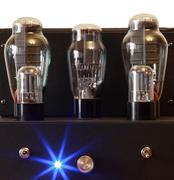 vacuum tube amplifier - stock photo