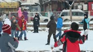 Children in the snow16 Stock Footage