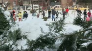 Children in the snow 14 Stock Footage