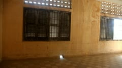 Tuol Sleng prison s21 genocide museum Phnom Penh Stock Footage