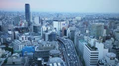 Tokyo Sunset Timelapse (HD) Stock Footage