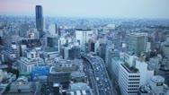 Tokyo Sunset Timelapse (HD) Stock Footage