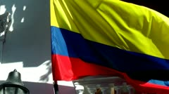 Colombian Flag Stock Footage