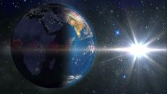 Earth Night to Day, HD - stock footage