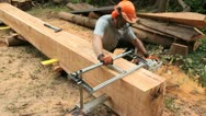 Chain saw mill Stock Footage