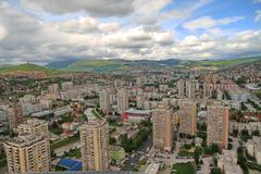 Sarajevo, view from Bosmal building - stock photo