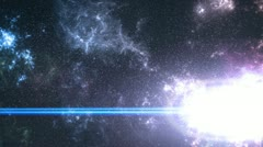 Exploding supernova Stock Footage