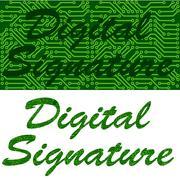 Digital signature Stock Illustration
