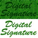 Stock Illustration of digital signature