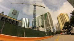 Brickell Bay Drive Miami Stock Footage
