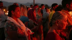 Puja (Hinduism) 3. India, Rishikesh Stock Footage