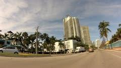 Alton Road Miami Beach 3 Stock Footage
