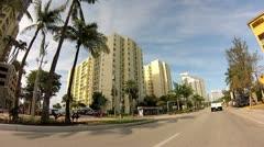 Alton Road Miami Beach 2 Stock Footage