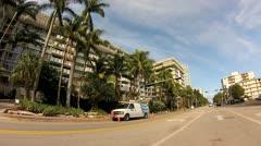 West Avenue Miami Beach Stock Footage