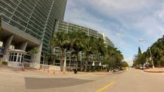 Flamingo condominium on Bay Rd., Miami, FL Stock Footage