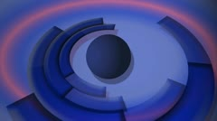 Rotating rings news animation graphics background abstract art blue breaking  Stock Footage