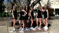 Tennis Pose Stock Footage