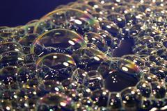 Stock Photo of iridescent foam closeup