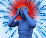 Digital body having a headache Stock Illustration