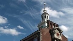 Independence Hall tower, Philadelphia - stock footage