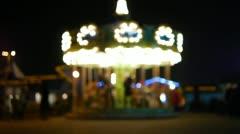 HD - Children's carousel. defocused Stock Footage