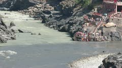 The source of the Ganges. Devprayag. Alaknanda and Bhagirathi rivers. - stock footage