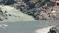 Stock Video Footage of The source of the Ganges. Devprayag. Alaknanda and Bhagirathi rivers.
