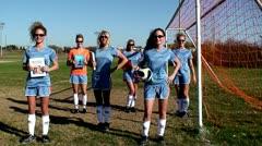 Soccer Jump Stock Footage