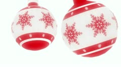 Christmas tree decorations swing Stock Footage