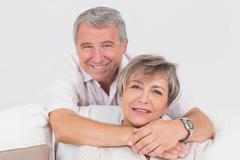 Portrait of old couple - stock photo