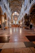 Nave of parma cathedral, italy Stock Photos