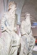 prophet nathan and king david - stock photo