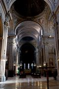 Nave of cathedral in ferrara, italy Stock Photos
