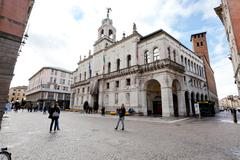 view of palazzo moroni - seat of the municipality of padua, italy - stock photo