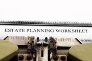 Estate plan worksheet Stock Photos