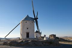 traditional windmills in spain - stock photo